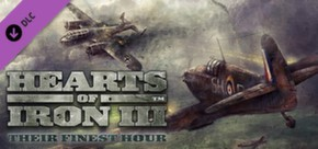 Hearts of Iron III: Their Finest Hour cover art