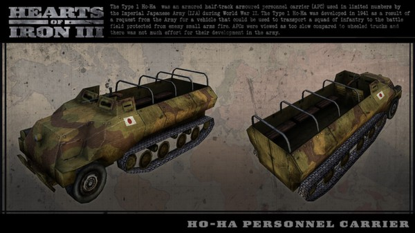 Hearts of Iron III: Japanese Vehicle Spritepack (DLC)