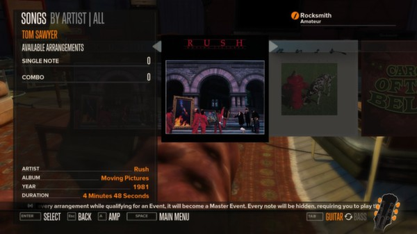 Rocksmith - Rush 5-Song Pack (DLC)
