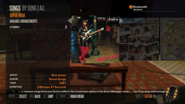 Rocksmith - Rick James - Super Freak (DLC)