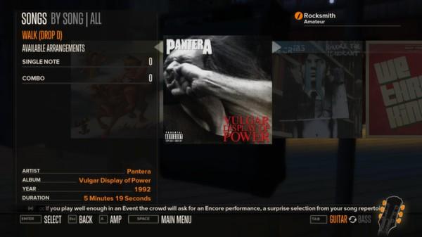Rocksmith - Pantera - Walk (DLC)