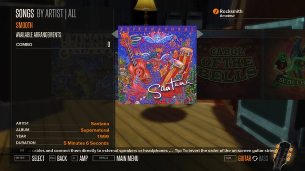 Rocksmith - Santana Feat Rob Thomas - Smooth (DLC)