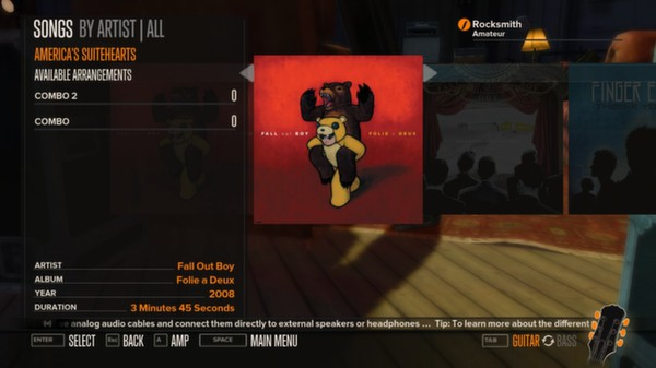 Rocksmith - Fall Out Boy - America's Suitehearts (DLC)