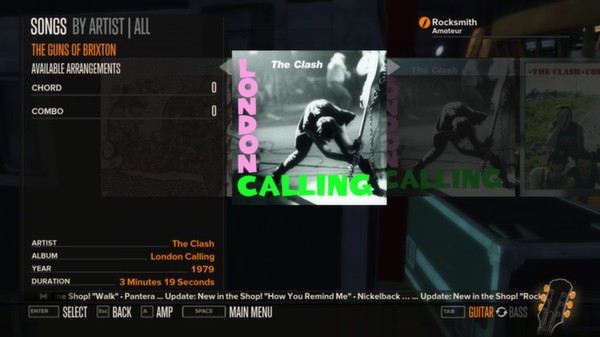 Rocksmith - The Clash - Guns of Brixton (DLC)