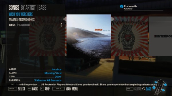 Rocksmith™ - Incubus - Wish You Were Here (DLC)