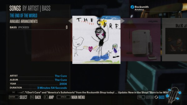 Rocksmith - The Cure - The End of the World (DLC)
