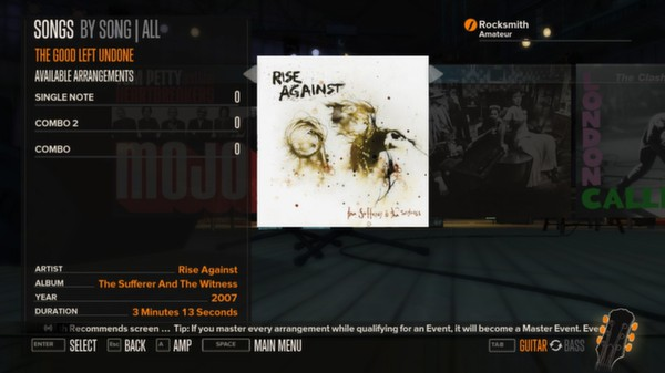 Rocksmith - Rise Against - The Good Left Undone (DLC)