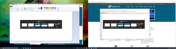 Скриншот из DisplayFusion