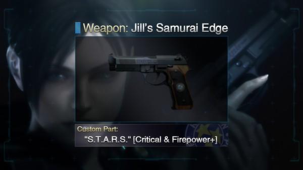 """Resident Evil: Revelations Jill's Samurai Edge + Custom Part: """"S.T.A.R.S."""" (DLC)"""