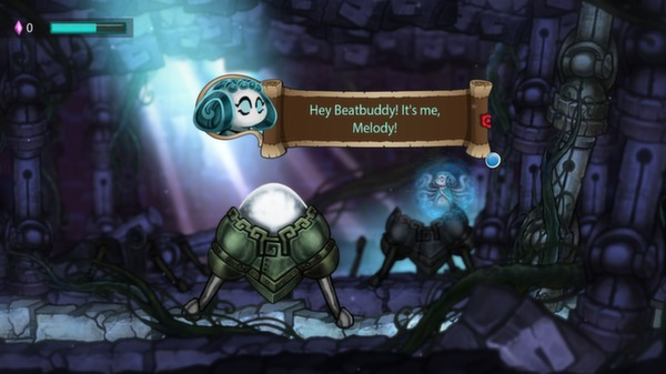 Screenshot of Beatbuddy: Tale of the Guardians
