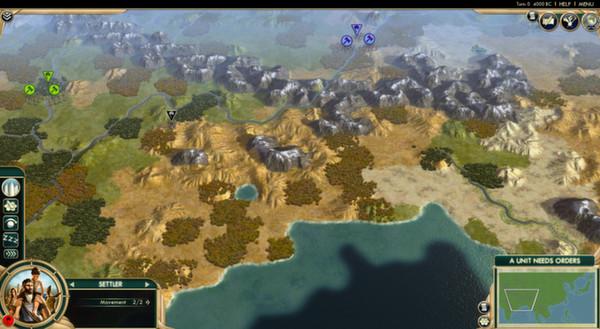 Скриншот из Civilization V - Scrambled Continents Map Pack