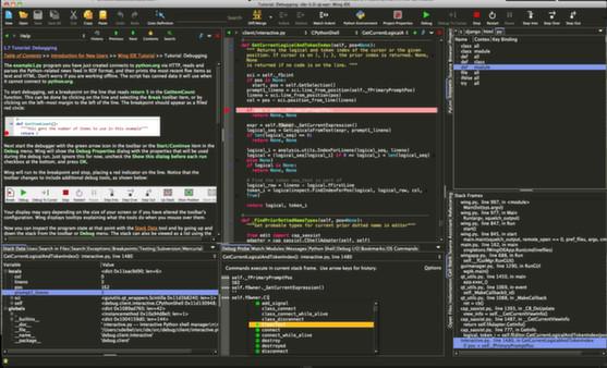 Скриншот из Wing IDE 5