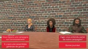 Tractage aux Portes 2: Mob à la Cafétéria video