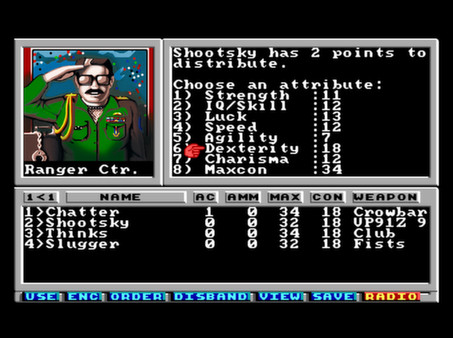 Screenshot of Wasteland 1 - The Original Classic