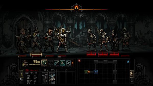 Screenshot of the indie game Darkest Dungeon