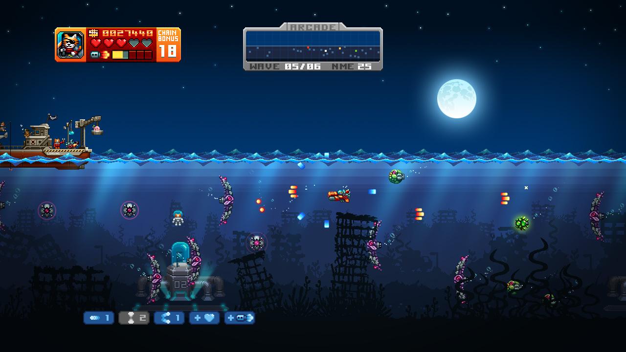 Aqua Kitty: Milk Mine Defender screenshot 2