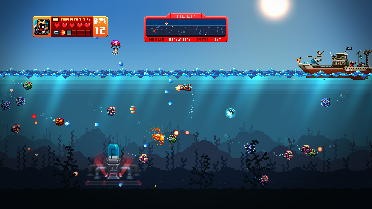 Aqua Kitty: Milk Mine Defender screenshot 1