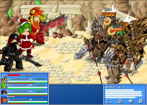 Screenshot of Epic Battle Fantasy 4