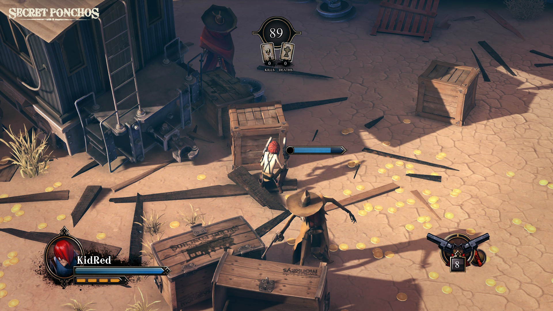 Secret Ponchos - Wild West isometric action MP gunfights
