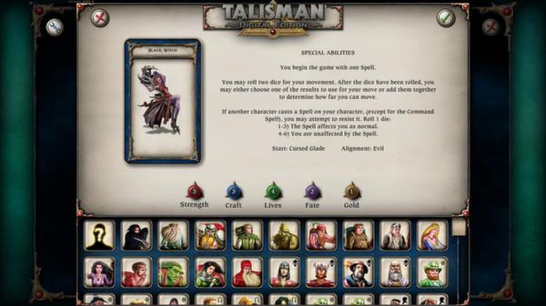 скриншот Talisman - Character Pack #7 - Black Witch 1