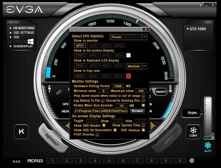 Скриншот из EVGA Precision X1