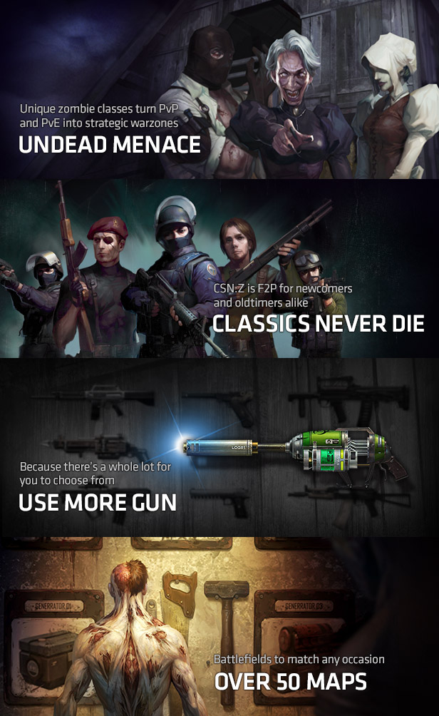 Key Features Free To Play Counter Strike Nexon Zombies