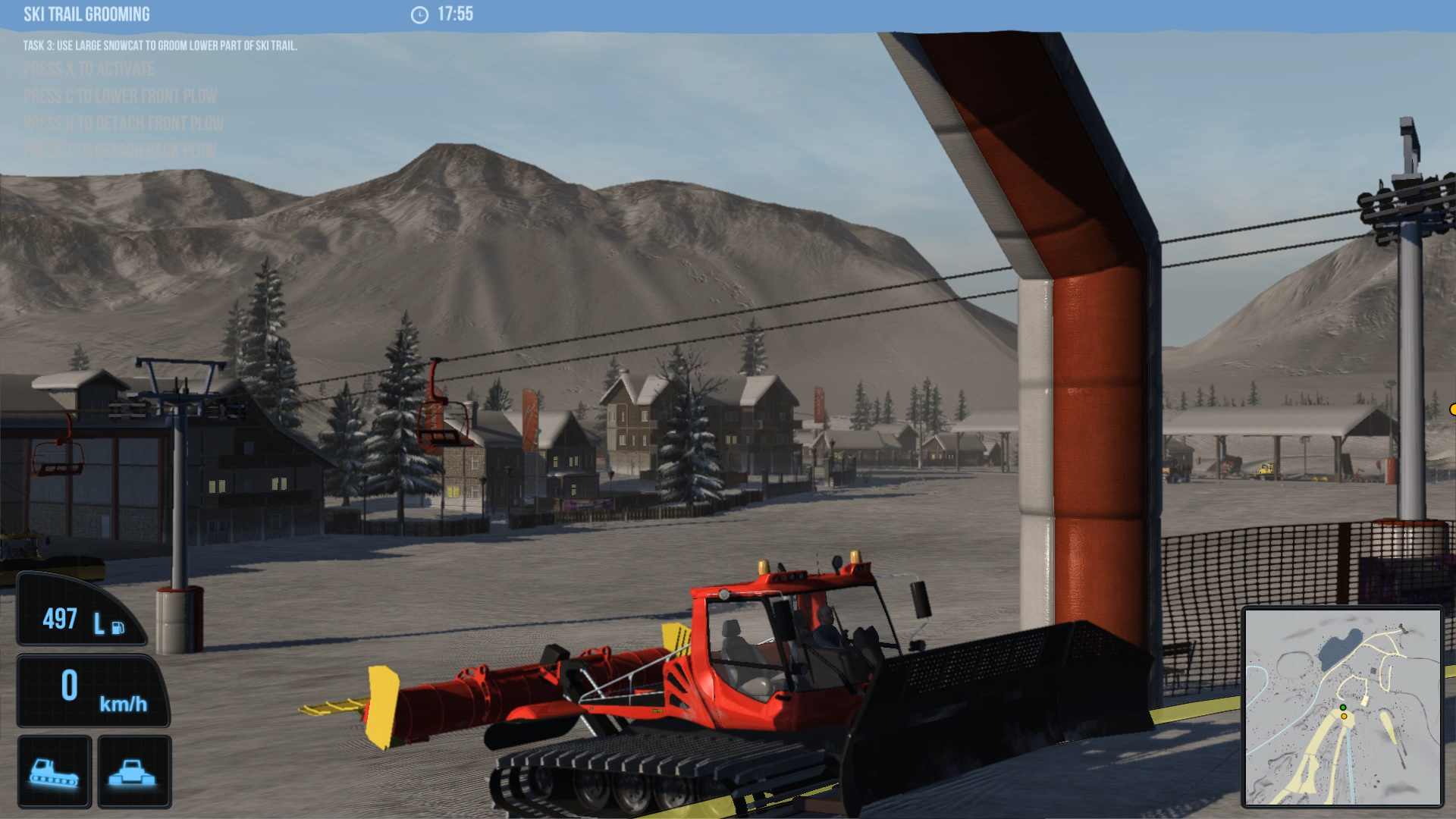 snowcat simulator demo