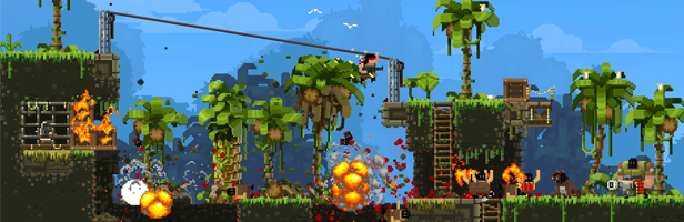 The Broforce: Deliver your own brand of shock and awe with dozens of