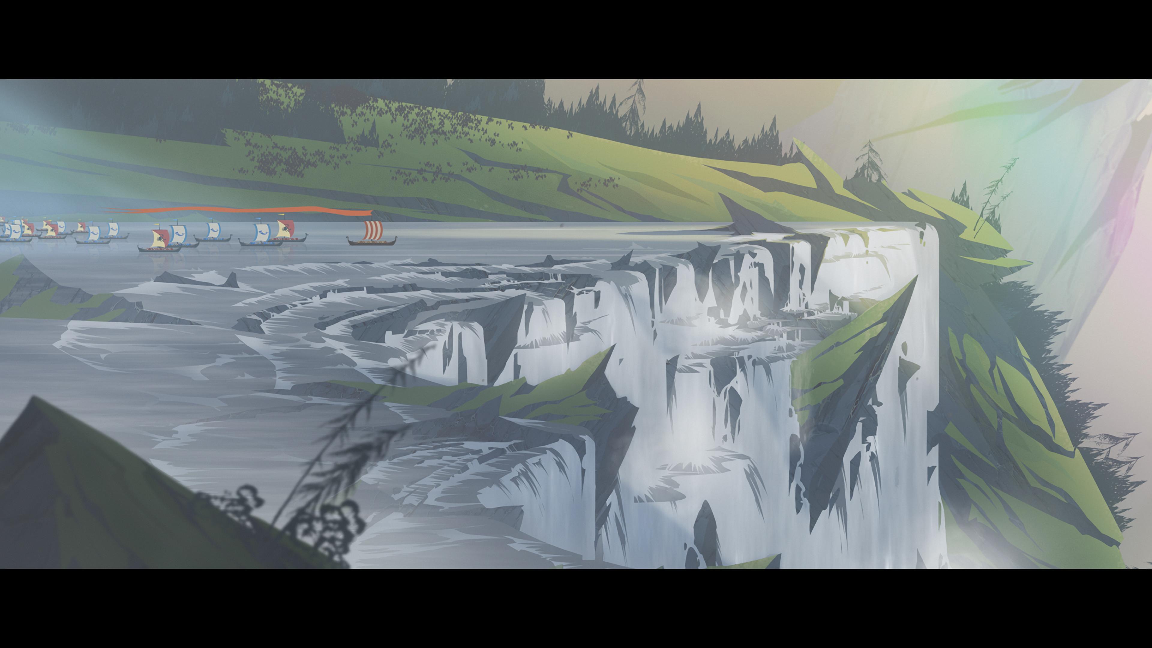 Banner Saga 2 Waterfall