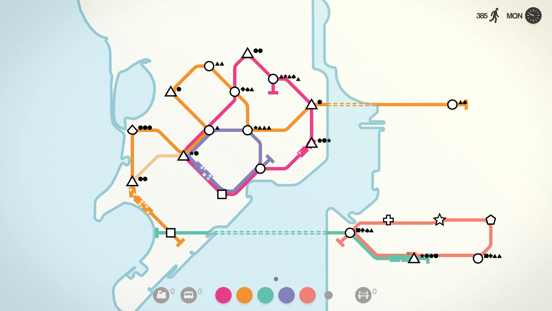 Audiosorce Subway Map.Mini Metro