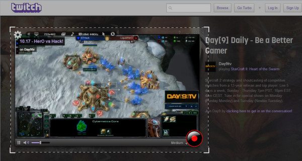 Скриншот из liteCam HD: Capture twitch.tv Live Stream