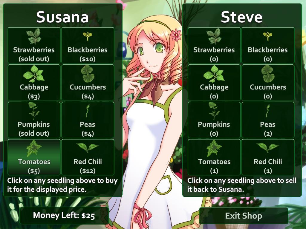The flower shop dating sim
