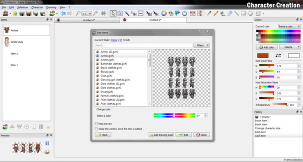 Скриншот из Game Character Hub