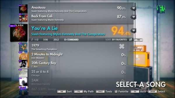 """Скриншот №2 к Rocksmith® 2014 – Slash featuring Myles Kennedy and The Conspirators - """"You're a Lie"""""""