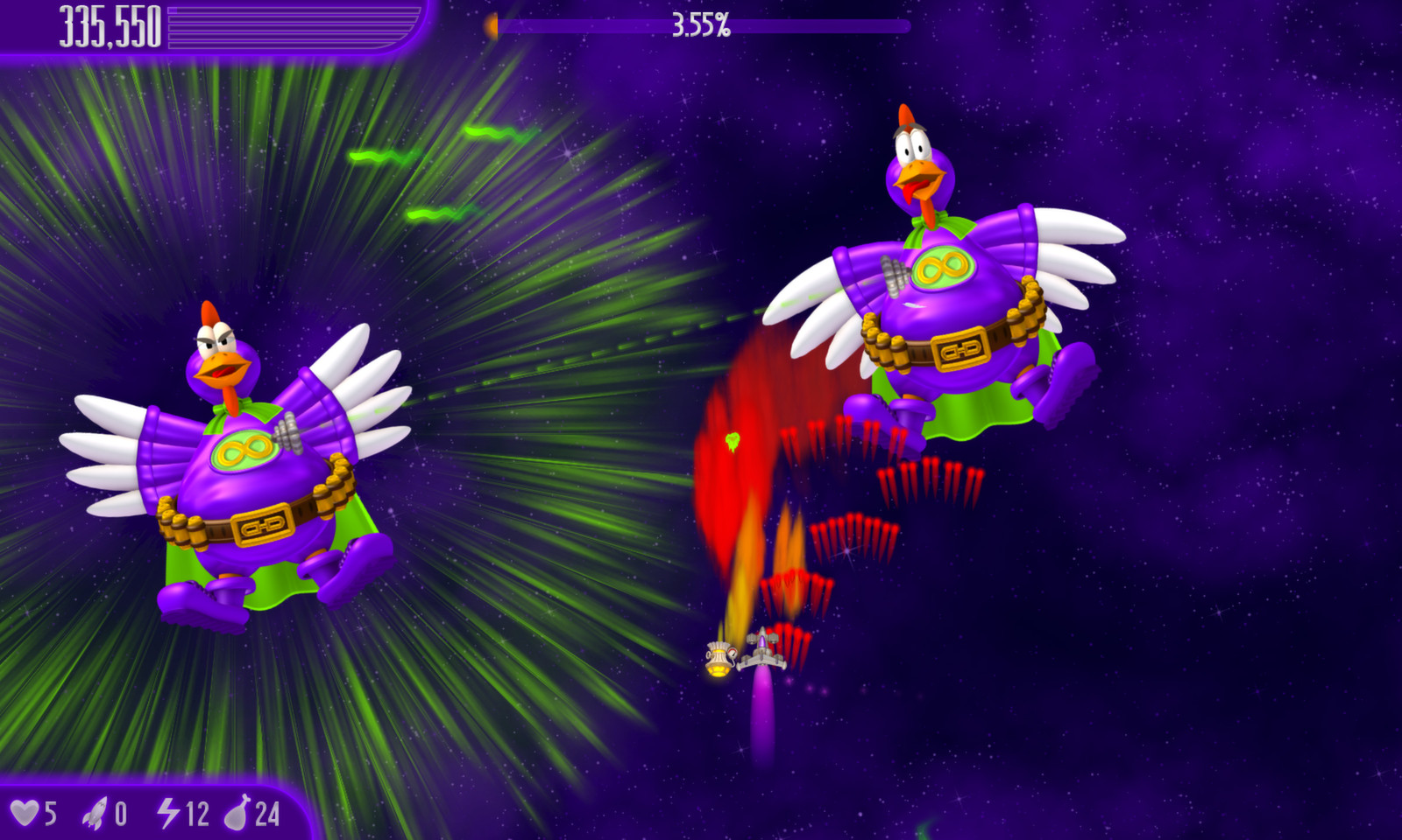 Chicken Invaders Online Game Full Screen