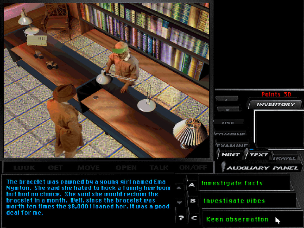 Tex Murphy: Under a Killing Moon screenshot 3