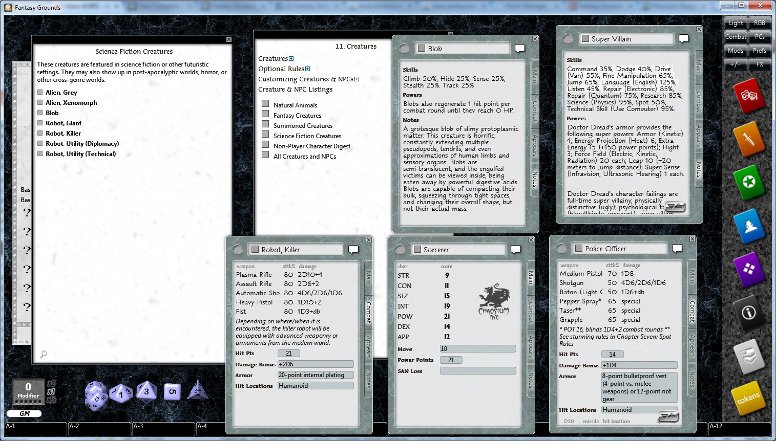 Fantasy Grounds - Basic Roleplaying (BRP) Ruleset