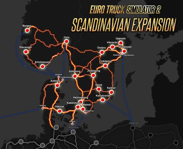 Australia Map Ets2.Euro Truck Simulator 2 Scandinavia On Steam