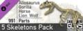 World of Guns: 5 Skeletons Pack