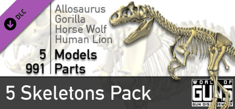 World of Guns: 5 Skeletons Pack