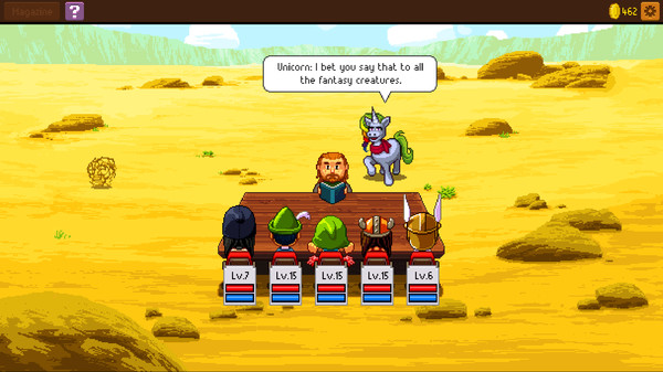 Screenshot of Knights of Pen and Paper 2