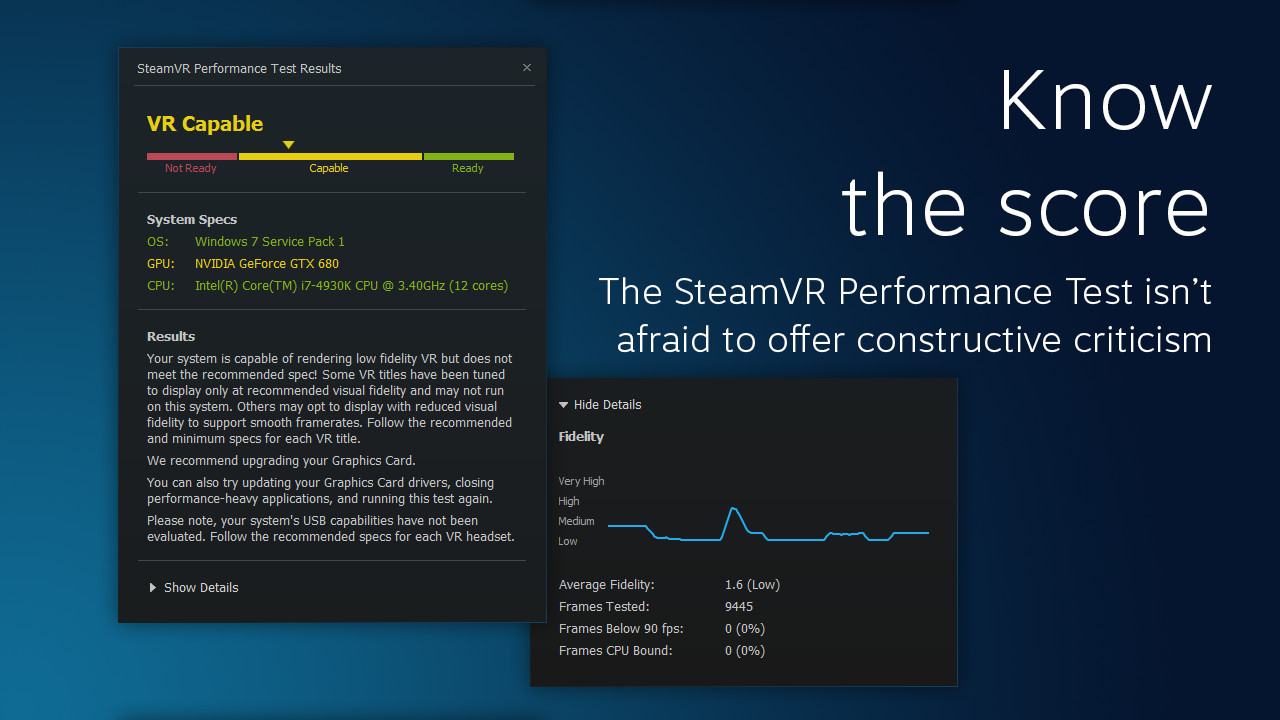 SteamVR Performance Test on Steam