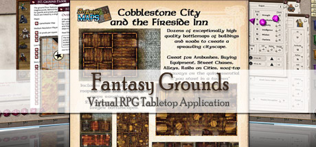 Fantasy Grounds - Maps: Cobblestone City and Inn