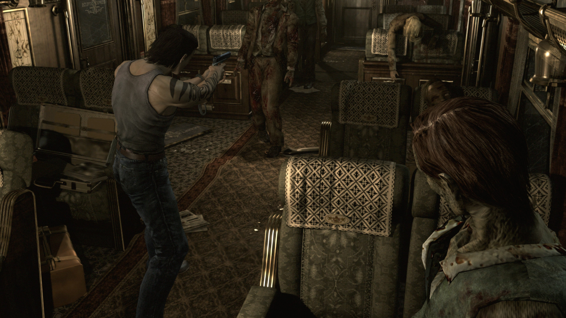 Screenshot comparison with Gamecube version :: Resident Evil