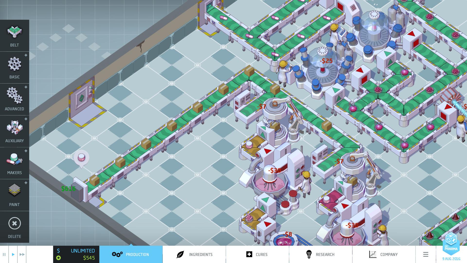 big pharma game centrifuge