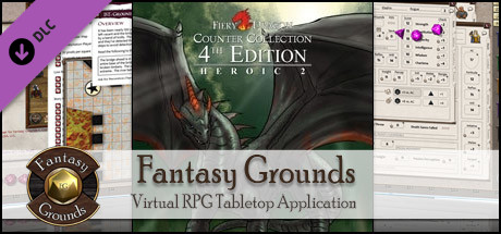 Fantasy Grounds - Fiery Dragon Counter Collection: Heroic 2