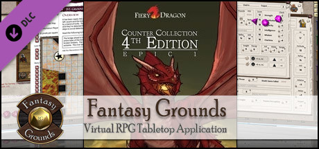 Fantasy Grounds - Fiery Dragon Counter Collection: Epic 1