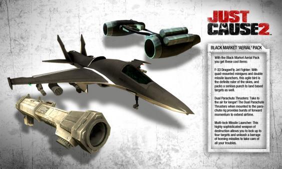 Скриншот из Just Cause 2: Black Market Aerial Pack DLC
