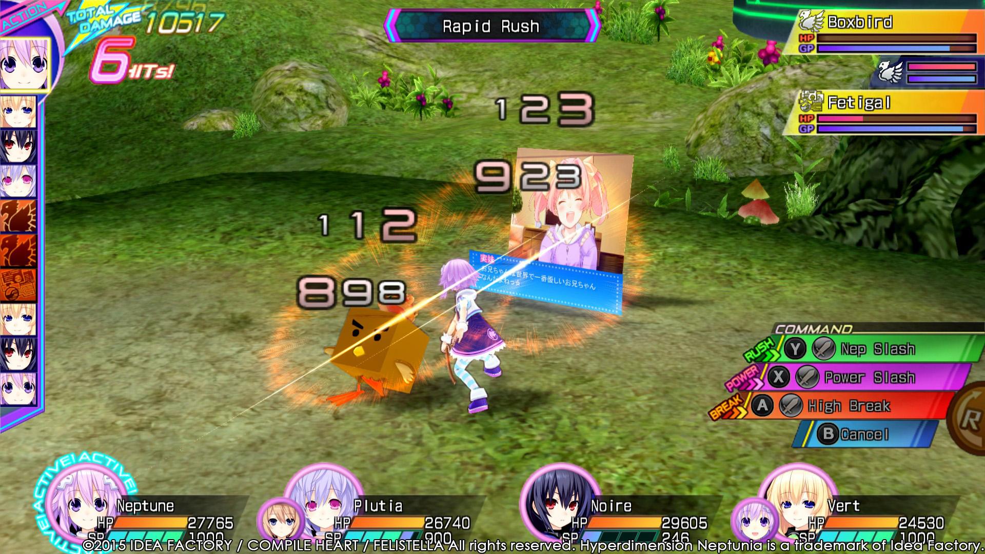 Hyperdimension Neptunia Re;Birth3 Screenshot 1