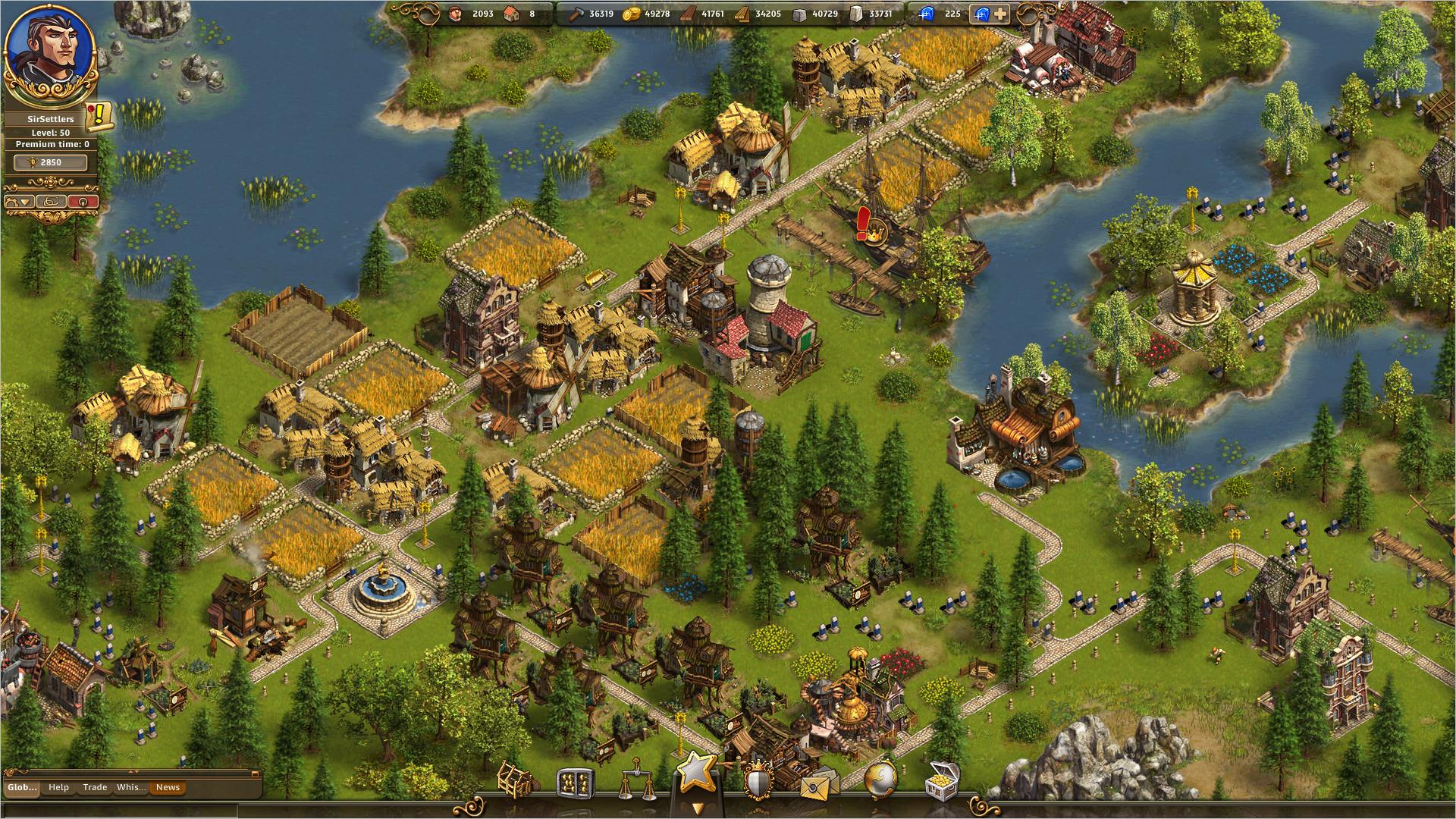 онлайн играть the settlers
